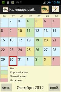рыболовный календарь на ближайшие дни